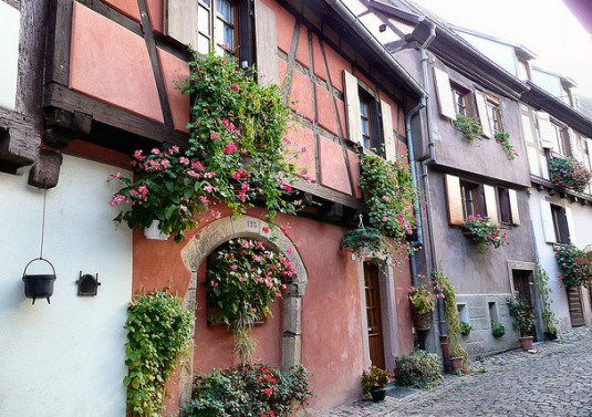 Elzas wijndorpen Eguisheim