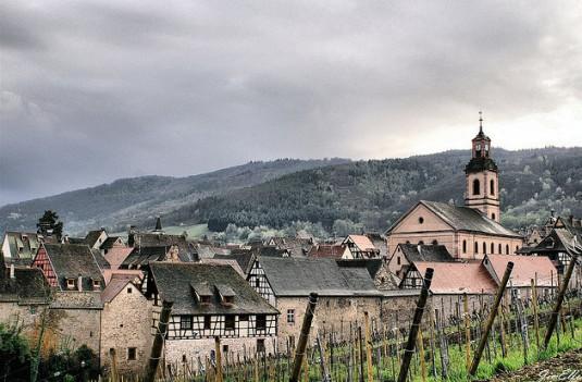 Elzas wijndorpen Riquewihr