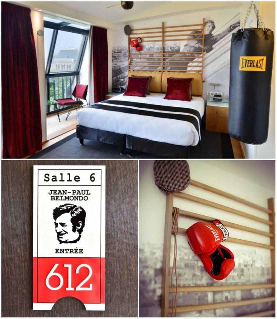 Hotel Jean-Paul Belmondo kamer in Parijs acteur filmheld