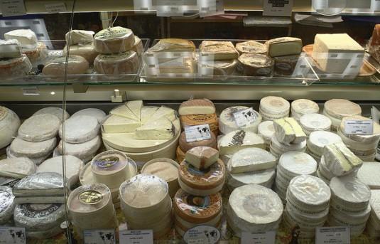 kazen kaaswinkel in Frankrijk