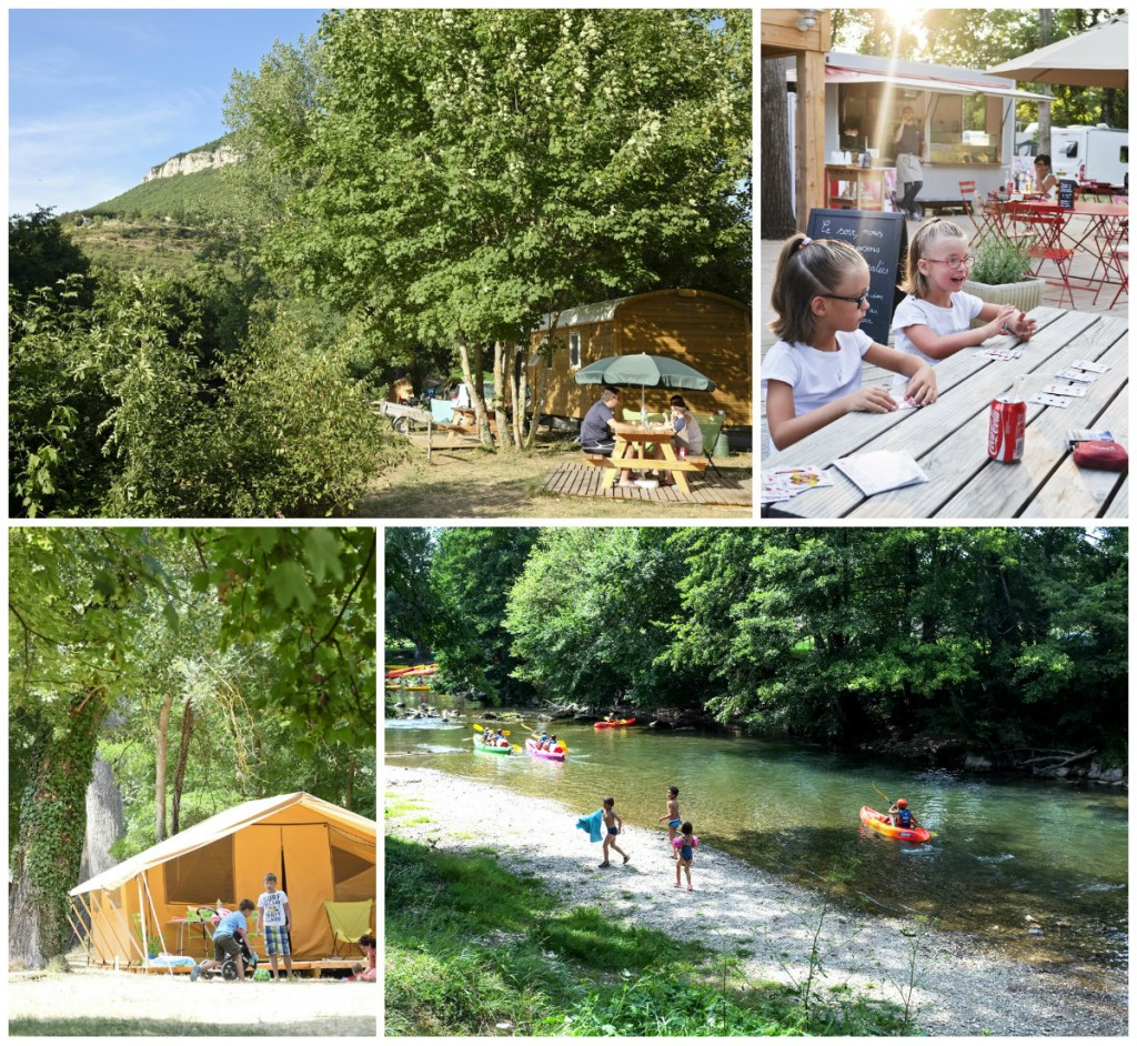 Huttopia Camping Millau tussen twee rieviertjes