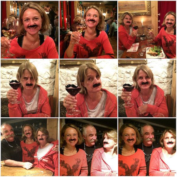 Moustache girls in restaurant Moustaches in Chamonix