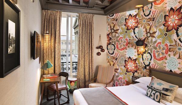 Hotel les Dames du panthéon balkenplafonds