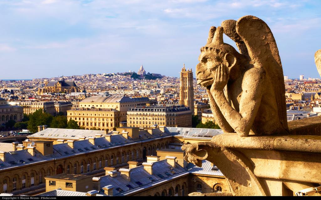 Parijs Notre-Dame uitzicht