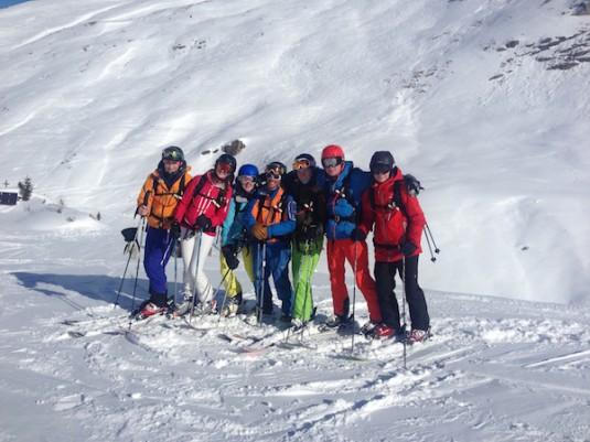 Off piste skien Val d'isere