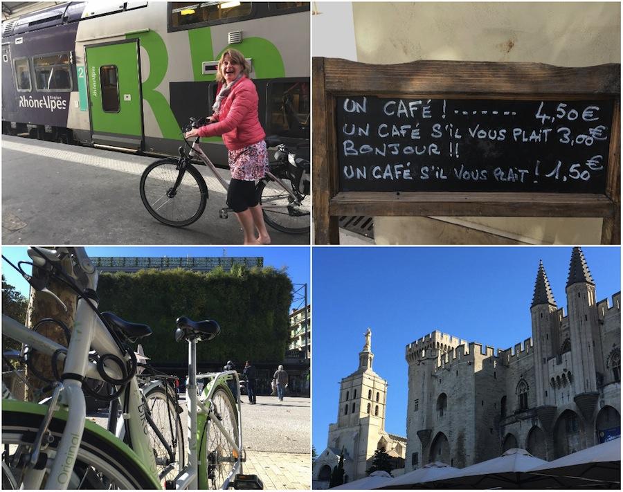 Fietsroute ViaRhona langs Avignon