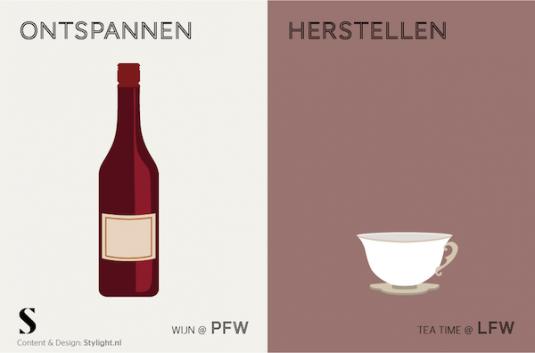 Stylight kopje thee versus fles rode wijn