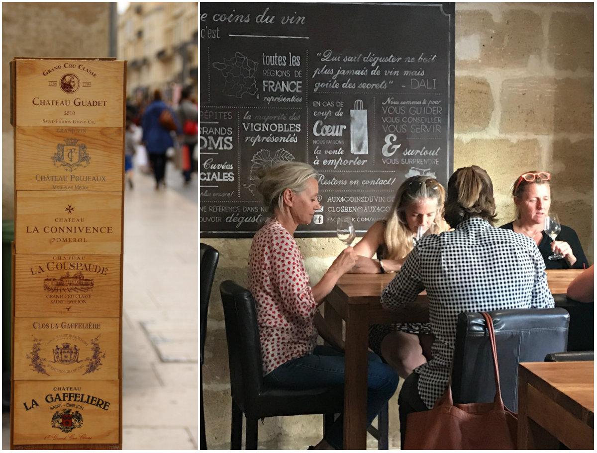 wijnproeven in wijnbars in centrum Bordeaux
