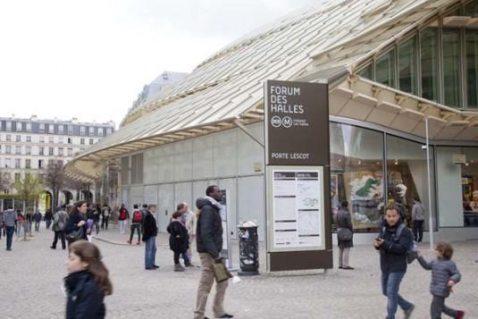 Forum des Halles architectuur Parijs vernieuwd winkelcentrum metro