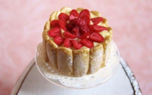charlotte aux fraises patisserie