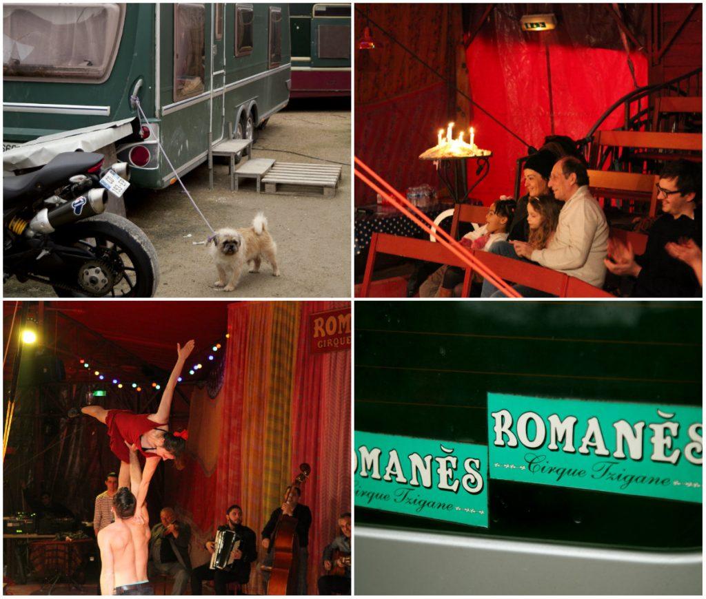 zigeunercircus in Parijs met kinderen circus