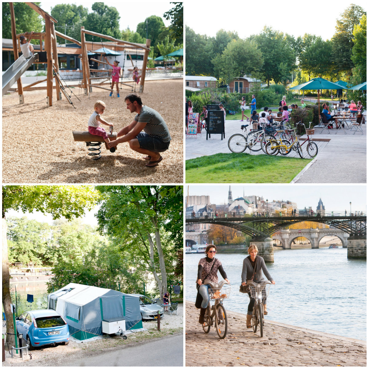Indigo camping Bois de Boulogne bij in Parijs
