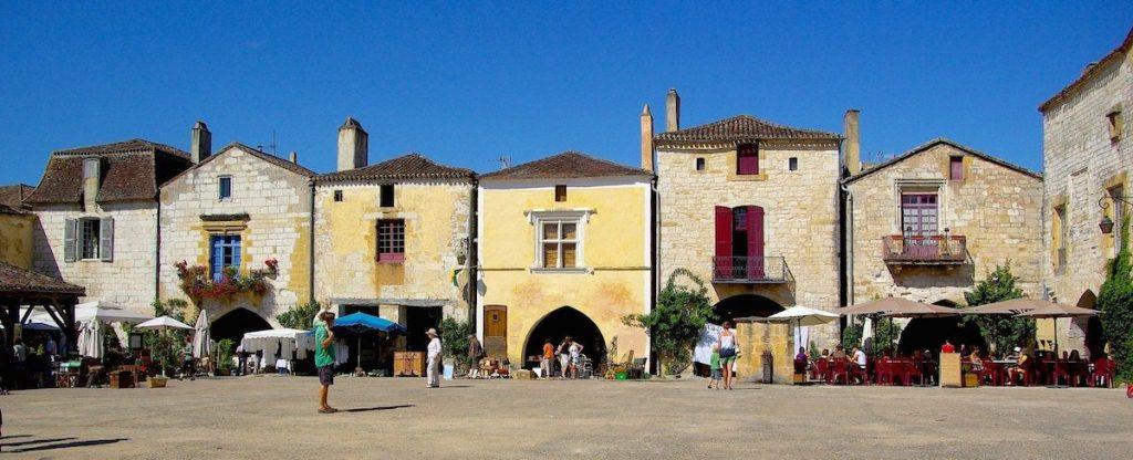 dorpje Monpazier abstide Dordogne Zuid-West Frankrijk
