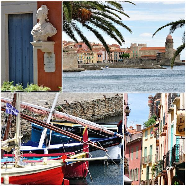 Bezienswaardigheden in pittoresk vissersdorp Collioure Languedoc-Roussillon