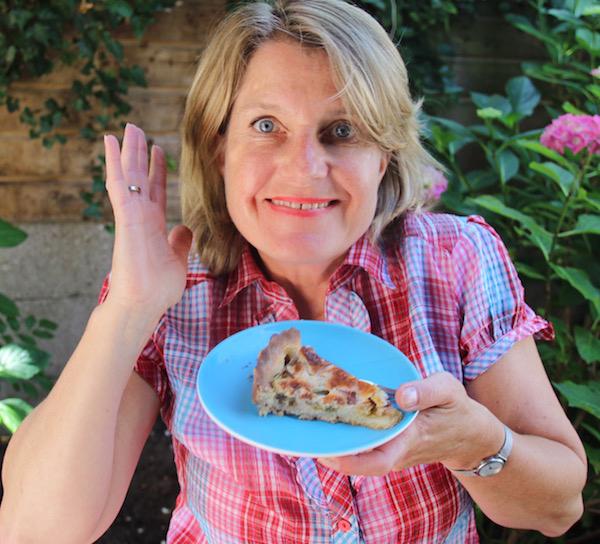 Josee rabarbertaart Franse recept koken makkelijk dessert