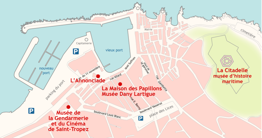 locatie musee de la Gendarmerie en du Cinema in Saint Tropez