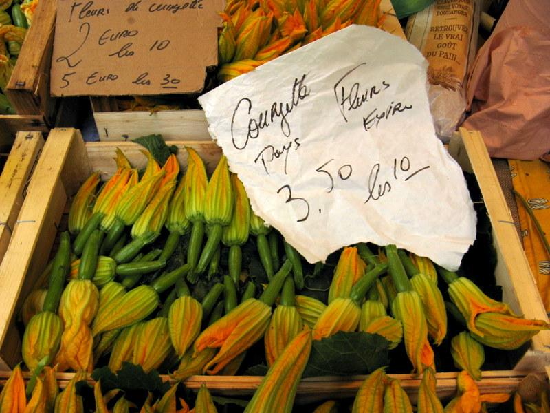 vourgette bloemen markt