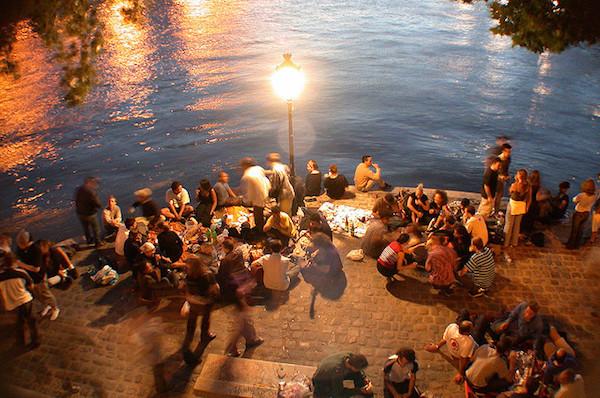 Picknick in Parijs op de Ile Saint Louis