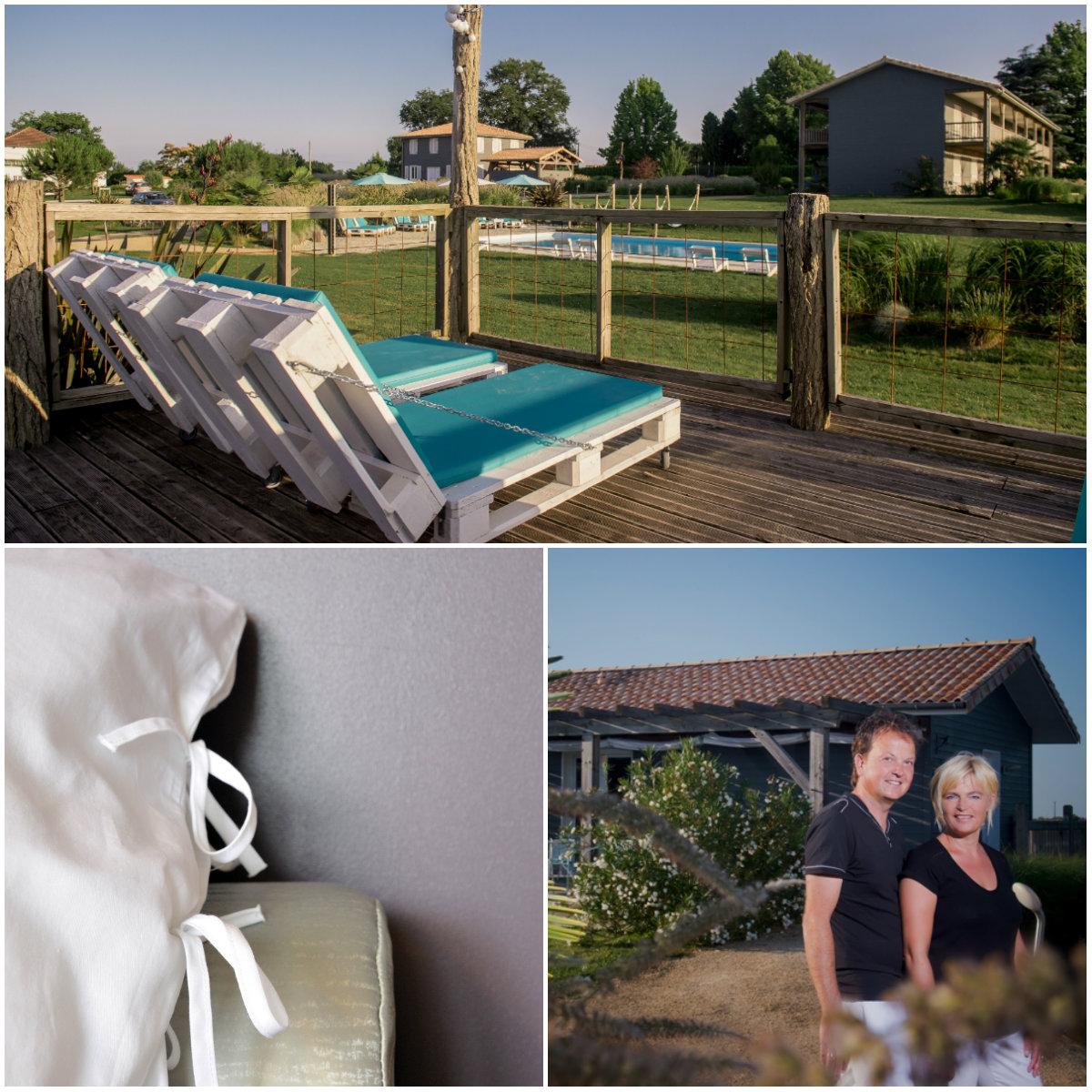 Nancy en Iwan van Hotel-la-petite-couronne in Les Landes