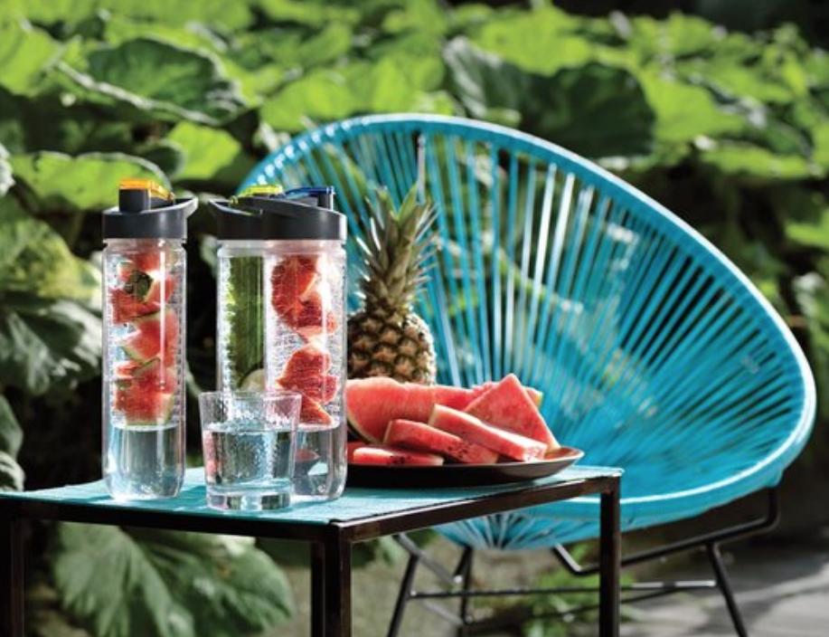 waterflessen met fruitfilter