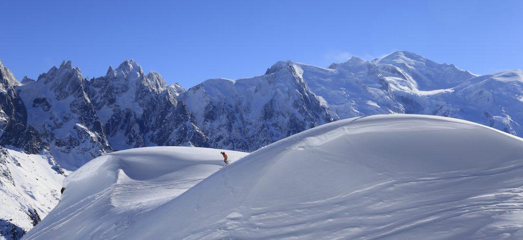 Chamonix Franse Alpen zomer zomer foto op dezelfde plek