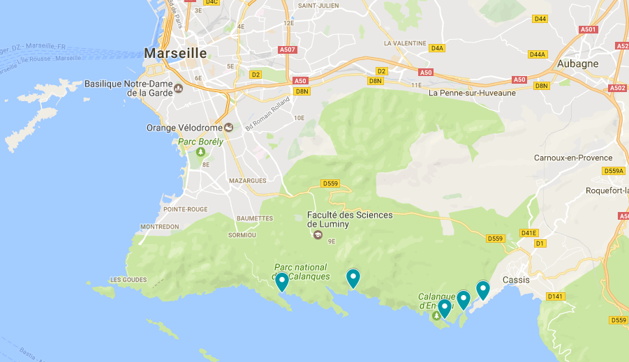 Mooiste calanques Cassis Marseille