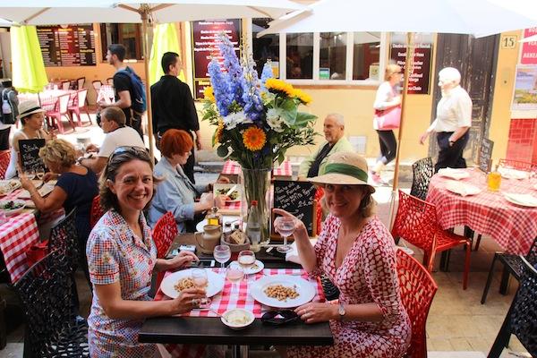Josee en Carole testen restaurants in Nice