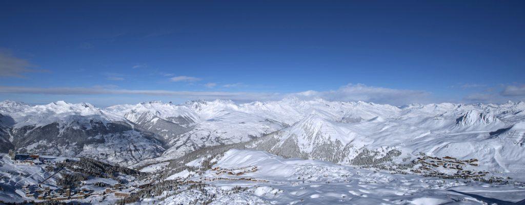 La Plagne wintersport skigebied panorama