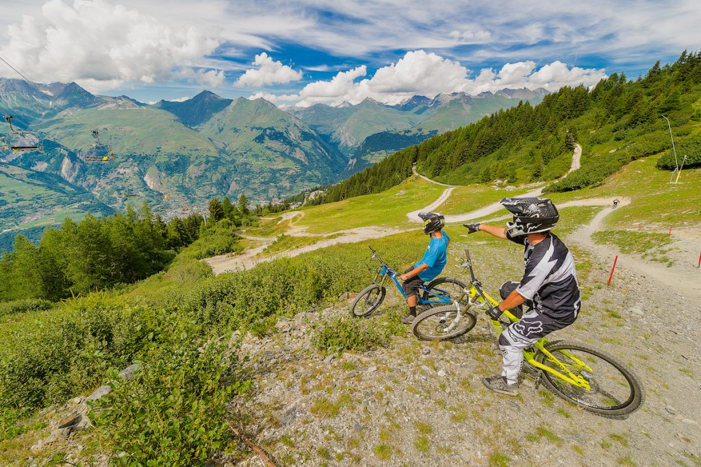 Les Arcs in de zomer Franse Alpen