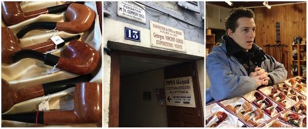 Atelier van Pipes Genod in Saint Claude, Jura, Frankrijk