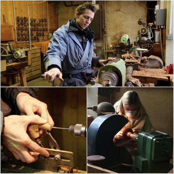Werkvloer van een pijpenmaker in de Jura