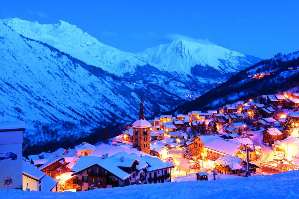 Saint-Martin Les Trois Vallees Franse Alpen wintersport bergen ski een charmant skidorp
