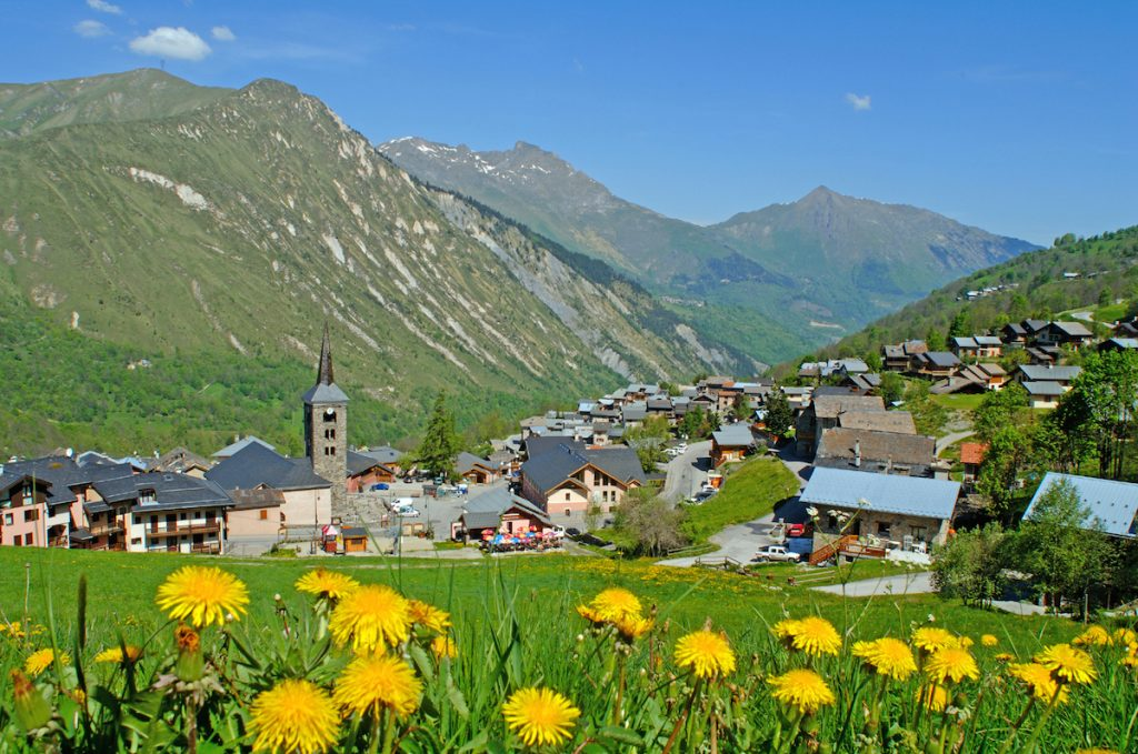 Saint-Martin Les Trois Vallees Franse Alpen zomer bergen wandelen
