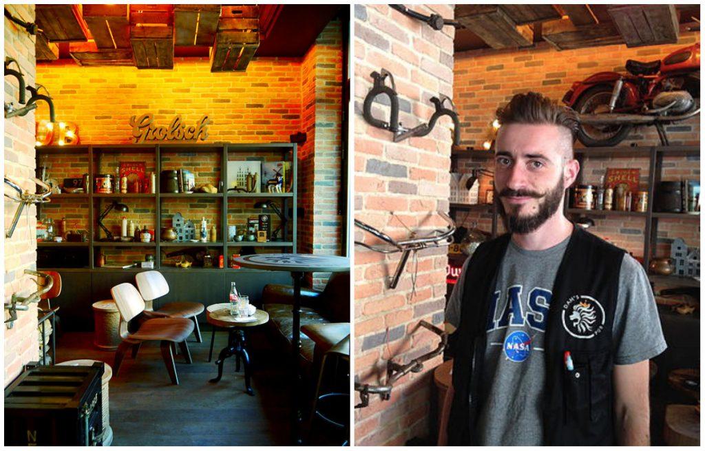 Nederlands café bar in Lyon Frankrijk