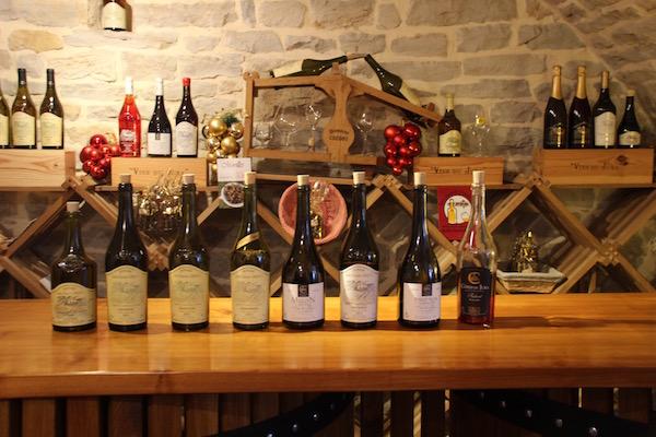 Verschillende cotes du Jura wijnen