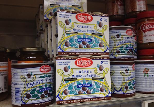Meenemen uit de Franse supermarkt leuke spullen kastanjepuree