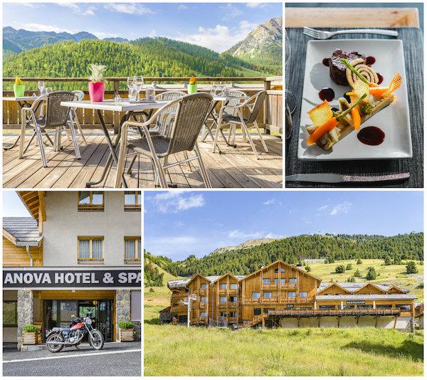 Anova berghotel Montgenèvre wintersport bergwandelen gezellig trendy hip zomer