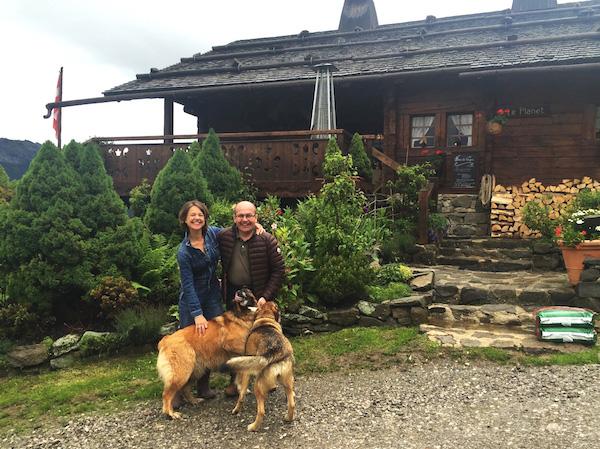 B&B La Ferme de Vonezins in de Savoie: gast Carole en eigenaar Philippe