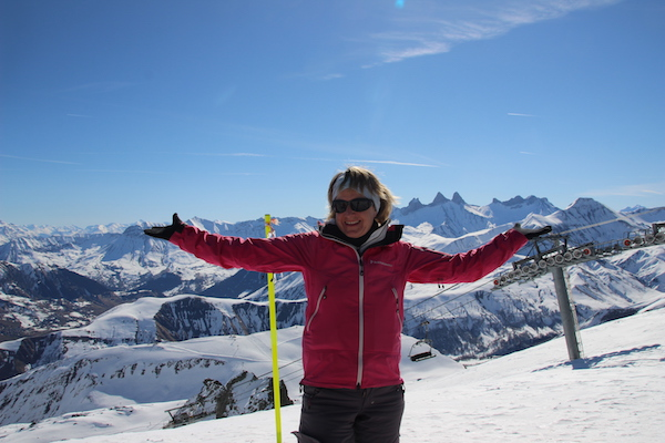 Josee in skigebied Les Sybelles