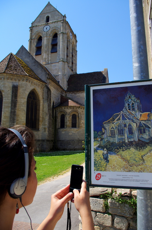 Van Gogh in Frankrijk: kerk van Auvers sur Oise