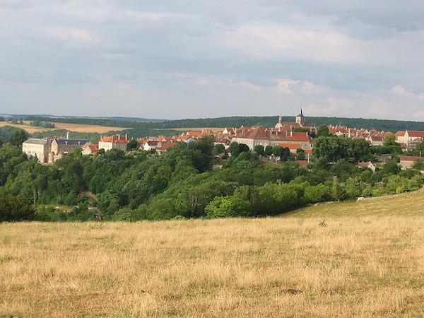 Flavigny sur Ozerain in de Bourgogne