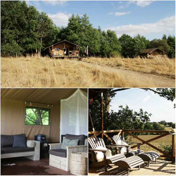 Glamping bij Chateau Bedruriere