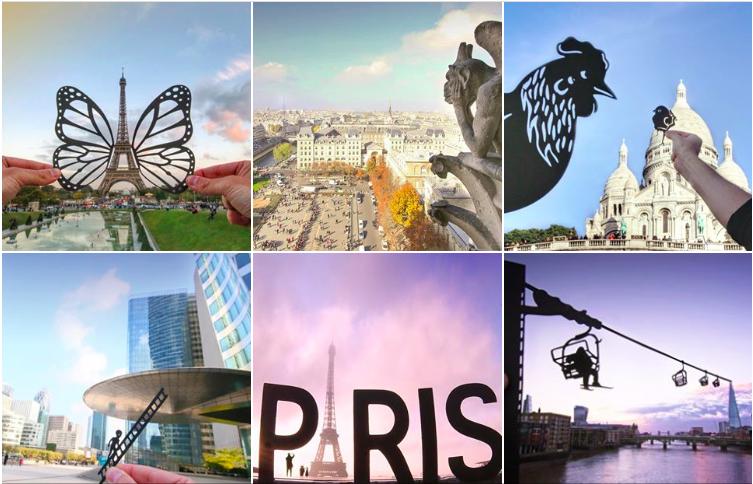 Parijs Eiffeltoren Instagram papierkunst paperboyo
