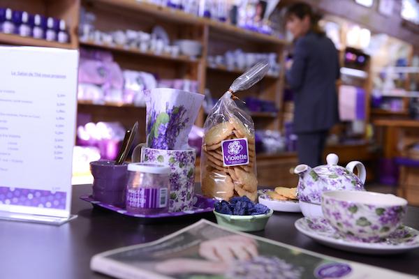 Producten waarin violen bewerkt zijn