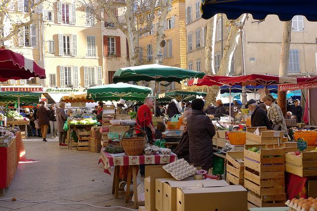 Frankrijk in de winter Aix-en-Provence
