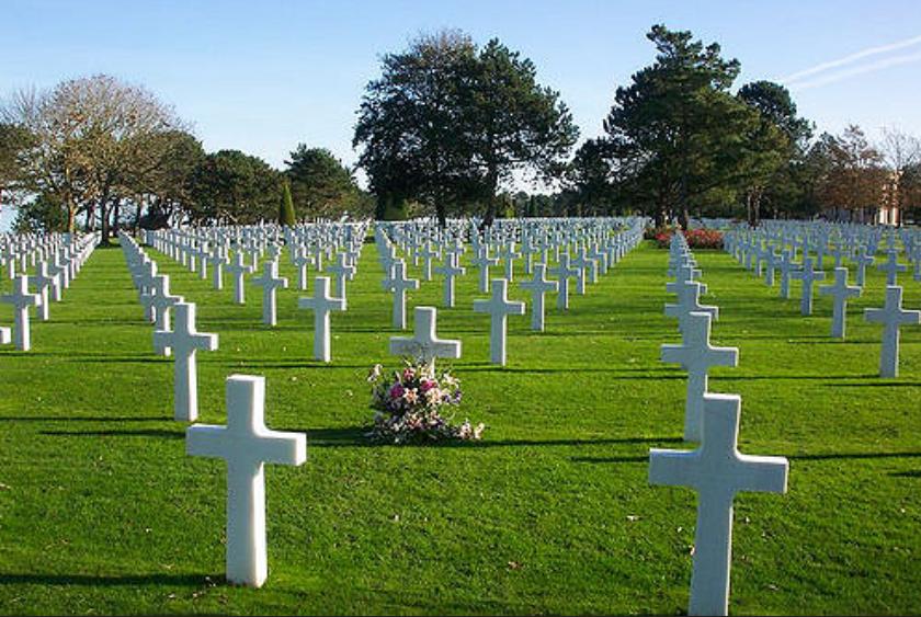 Omaha beach Amerikaanse begraafplaats Normandie
