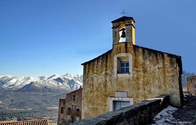 Frankrijk in de winter sneeuw op Corsica