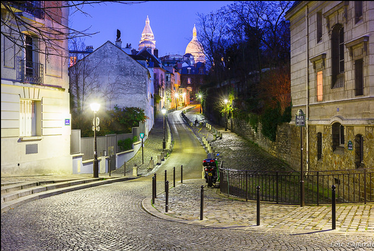 Montmartre Parijs nacht