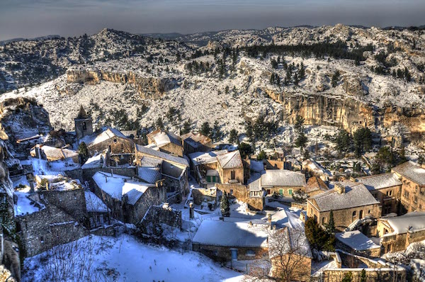 Frankrijk in de winter Provence Baux-les-Provence