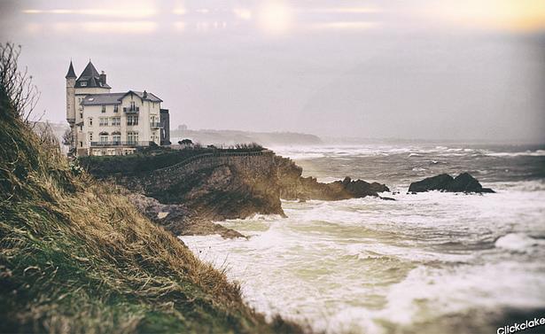 Frankrijk in de winter Biarritz